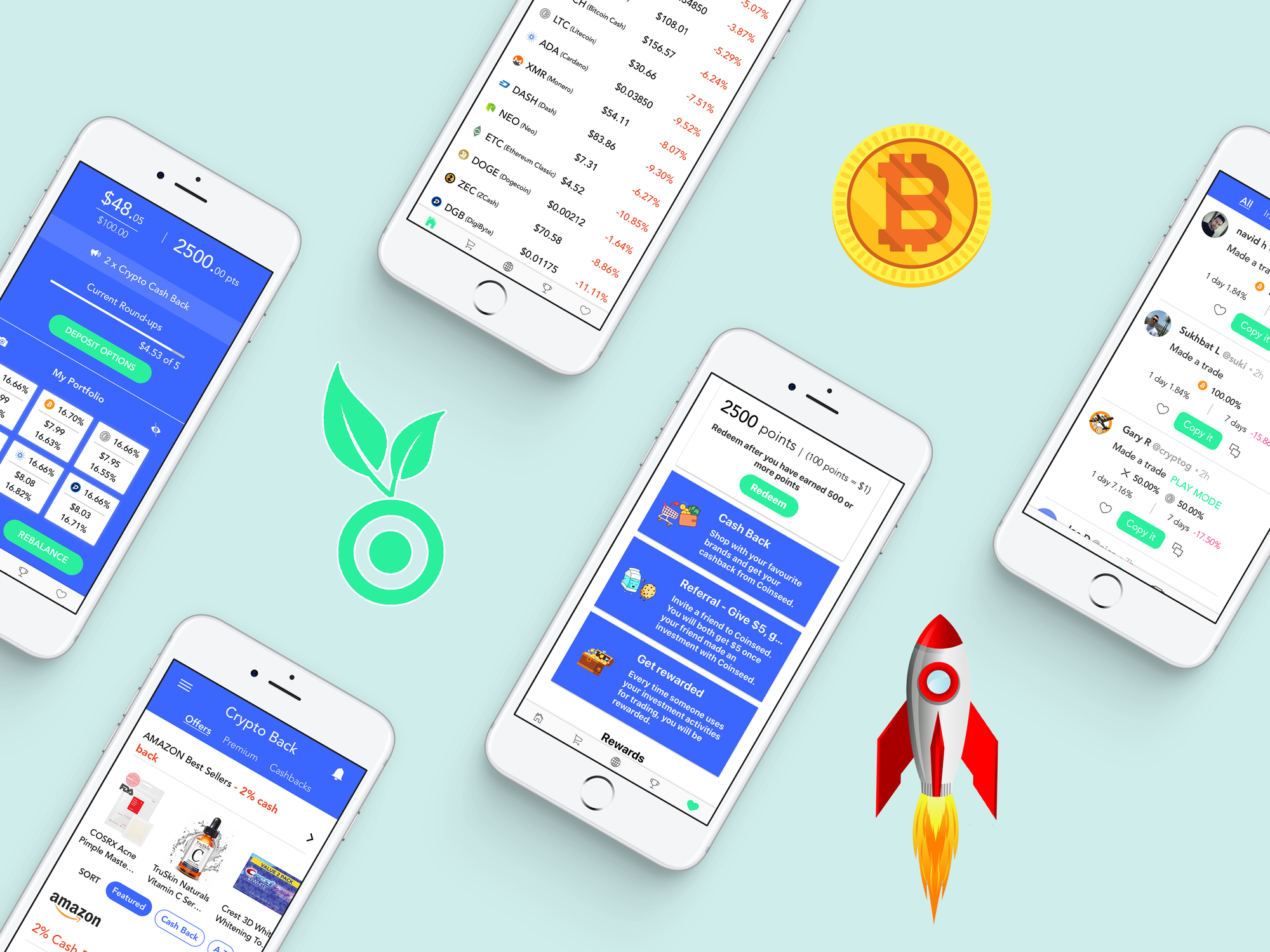 Coinseed cover feature